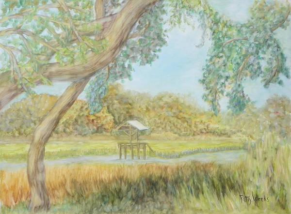 Weeks Bay Painting - Old Florida Creek by Patty Weeks