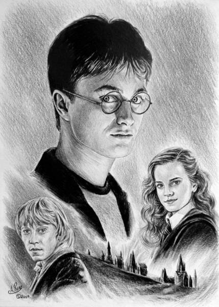 Potter Wall Art - Drawing - Old Friends by Andrew Read