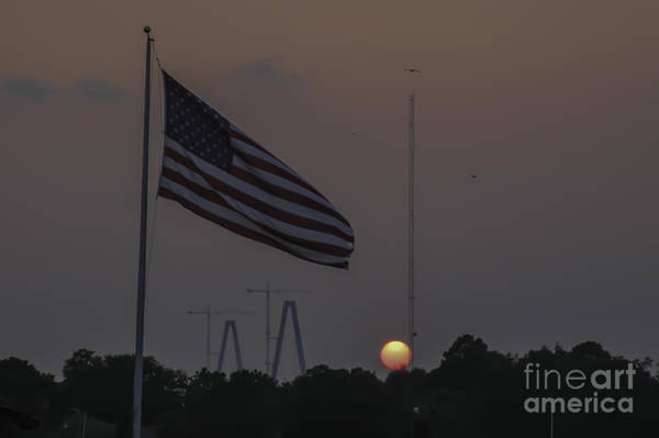 Photograph - Old Glory Sunset by Dale Powell
