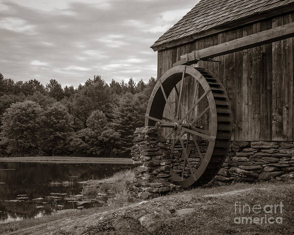 Grist Mill Photograph - Old Grist Mill Vermont by Edward Fielding