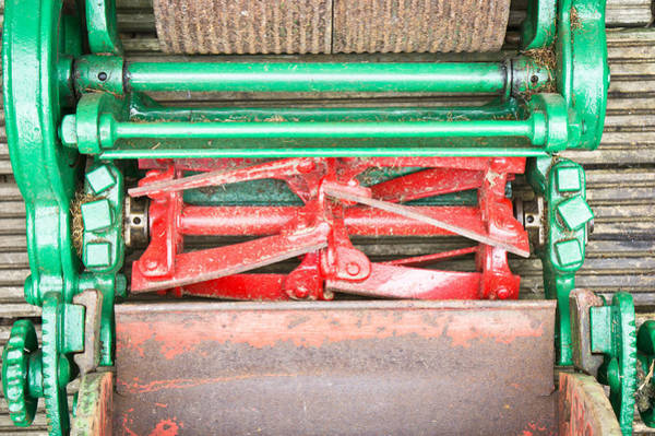 Blades Photograph - Old Lawn Mower by Tom Gowanlock