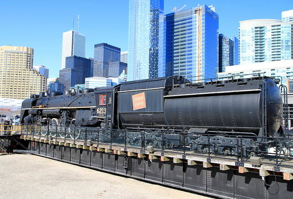 Canadian National Railway Photograph - Old Locomotive by Valentino Visentini
