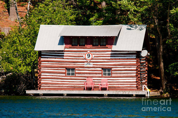 Photograph - Old Log Boathouse by Les Palenik