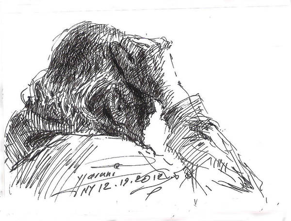 Heads Drawing - Old Man by Ylli Haruni