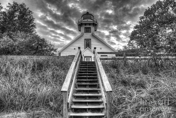Mission Photograph - Old Mission Lighthouse by Twenty Two North Photography