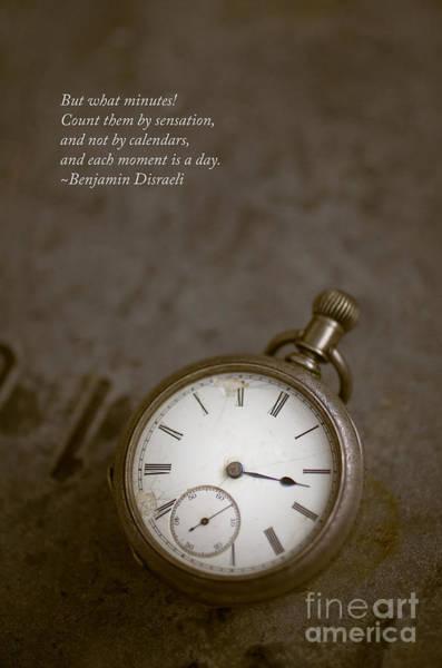 Alarm Clock Photograph - Old Pocket Watch by Edward Fielding