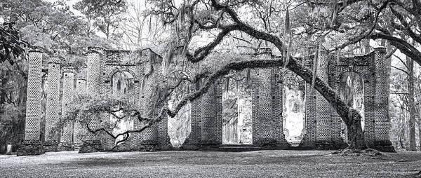 Photograph - Old Sheldon Church - Side View by Scott Hansen