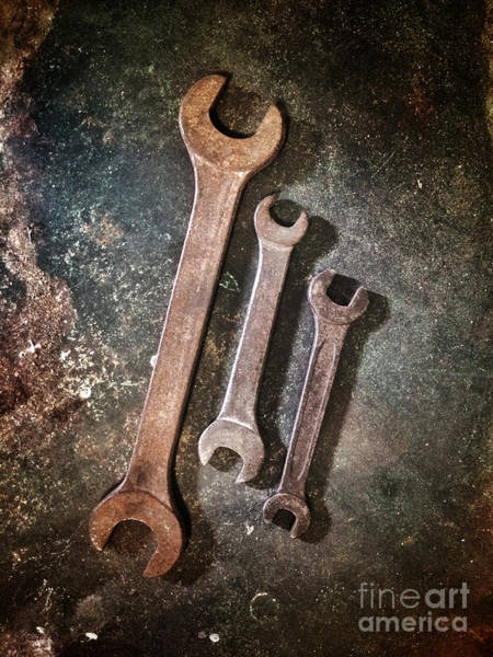 Ironwork Wall Art - Photograph - Old Spanners by Carlos Caetano