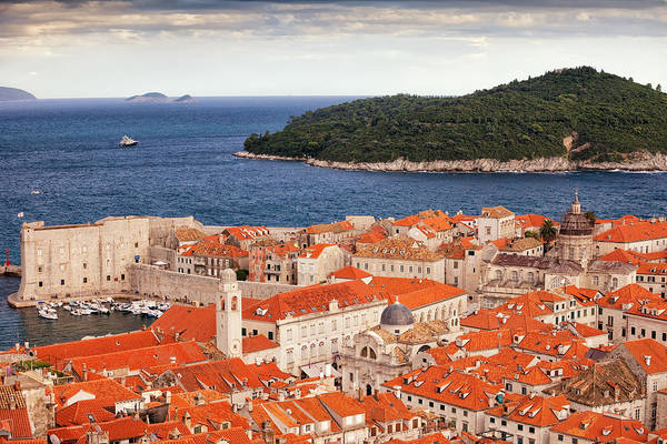 Lokrum Photograph - Old Town Of Dubrovnik And Lokrum Island by Artur Bogacki