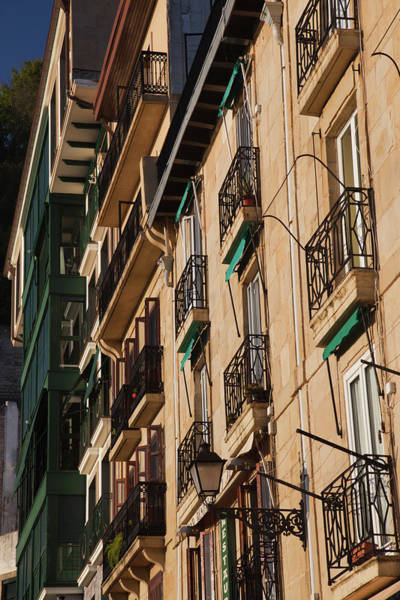 Balcony Photograph - Old Town Waterfront Buildings, San by Panoramic Images