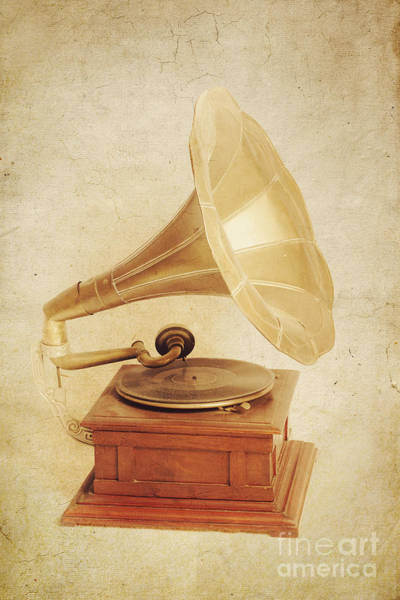 Wall Art - Photograph - Old Vintage Gold Gramophone Photo. Classical Sound by Jorgo Photography - Wall Art Gallery