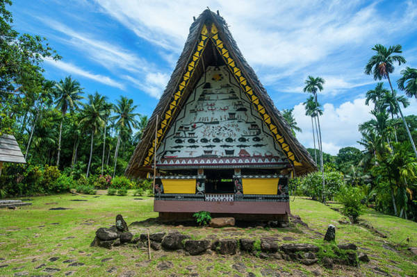 Historic Triangle Photograph - Oldest Bai Of Palau, House by Michael Runkel