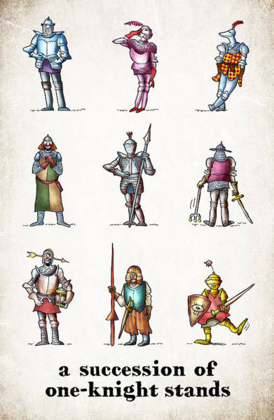One Knight Stands Art Print