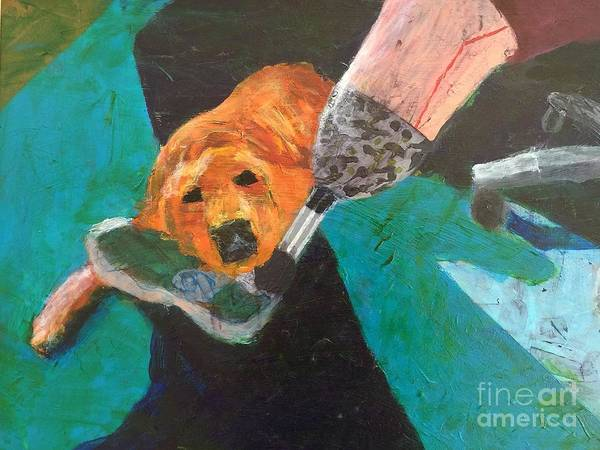 Service Dog Painting - One Team Two Heroes - 1 by Donald J Ryker III
