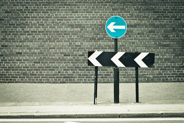 One Way Road Photograph - One Way by Tom Gowanlock