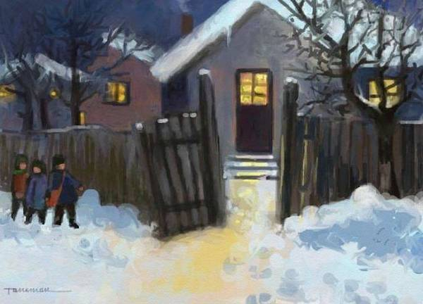 Open Door To Carol Art Print by Tancau Emanuel