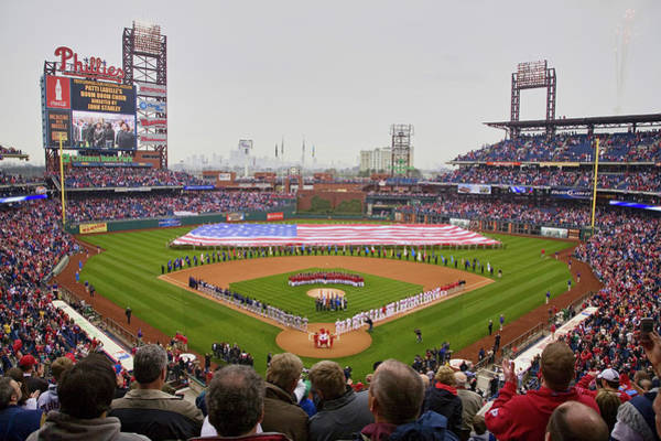 Citizens Bank Park Wall Art - Photograph - Opening Day Ceremonies Featuring by Panoramic Images