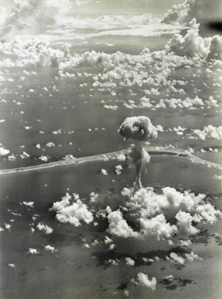 Atomic Photograph - Operation Crossroads Atom Bomb Test by Library Of Congress