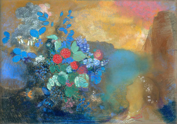 Ophelia Painting - Ophelia Among The Flowers by Odilon Redon
