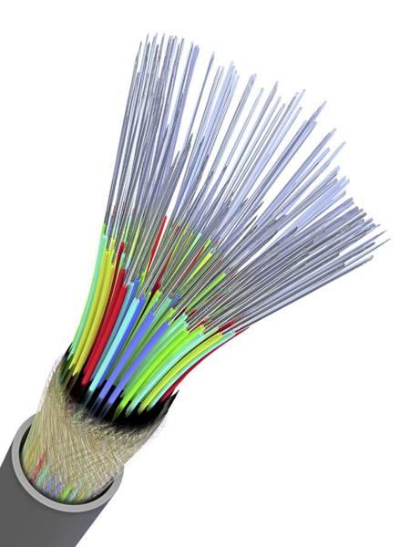 Optical Fibre Cable Art Print