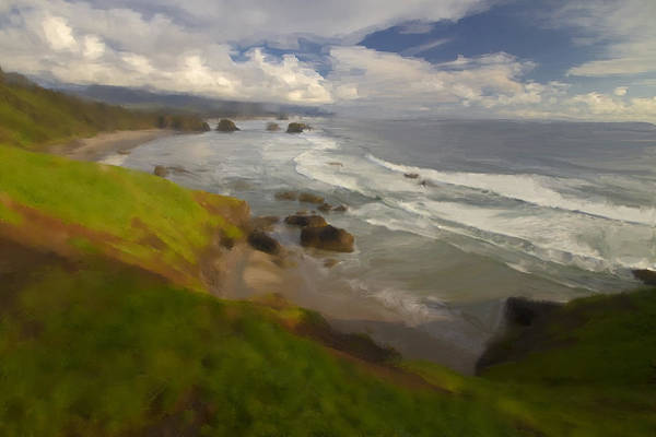 Digital Art - Oregon Coast View by Sven Brogren