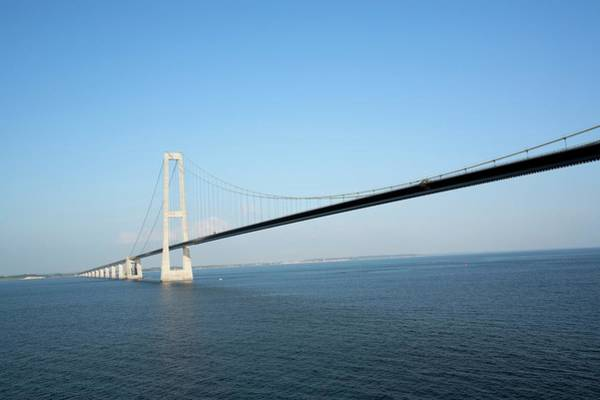 Cable-stayed Bridge Photograph - Oresund Bridge by Adam Hart-davis