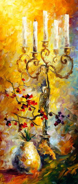 Chandelier Painting - Oriental Dreams 1 by Leonid Afremov
