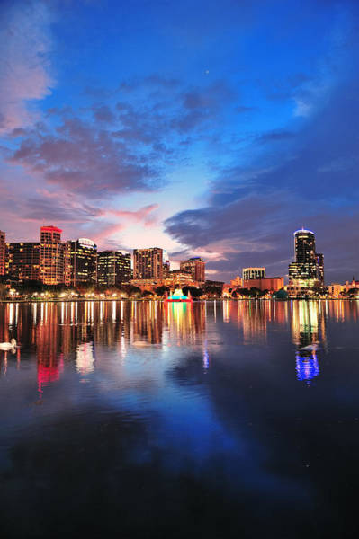 Wall Art - Photograph - Orlando Downtown Dusk by Songquan Deng
