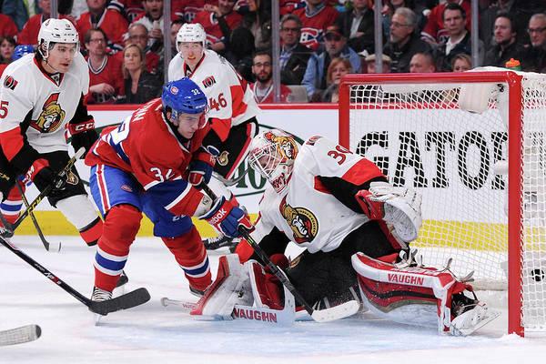 Hockey Photograph - Ottawa Senators V Montreal Canadiens by Richard Wolowicz