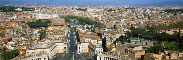 St Peters Basilica Photograph - Overview Of The Historic Centre Of Rome by Panoramic Images