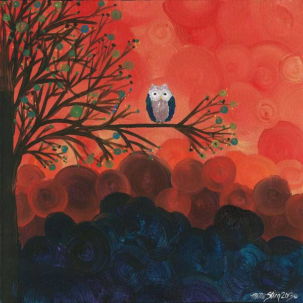 Painting - Owl Singles - 02 by MiMi  Stirn