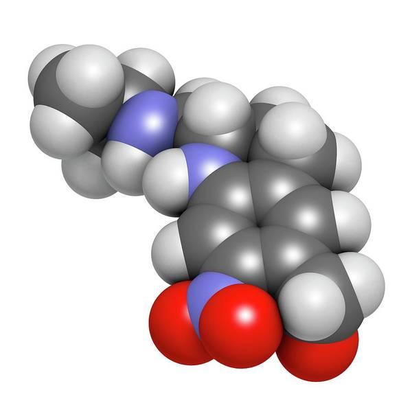 Pharma Wall Art - Photograph - Oxamniquine Anthelmintic Drug Molecule by Molekuul