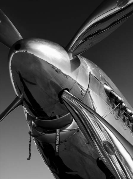 Engine Wall Art - Photograph - P-51 Mustang by John Hamlon
