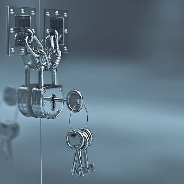 Wall Art - Photograph - Padlock And Keys by Ktsdesign/science Photo Library
