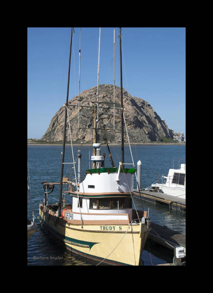 Morro Bay Painting - Painting The Trudy S Morro Bay by Barbara Snyder