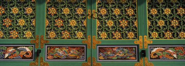 Buddhist Temple Wall Art - Photograph - Paintings On The Door Of A Buddhist by Panoramic Images