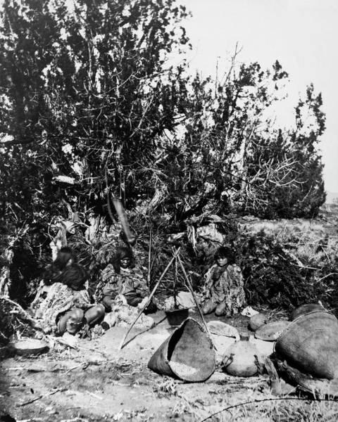 Lean-tos Photograph - Paiute Camp, C1873 by Granger