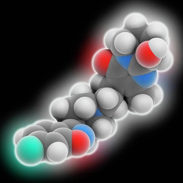 Wall Art - Photograph - Paliperidone Drug Molecule by Laguna Design/science Photo Library