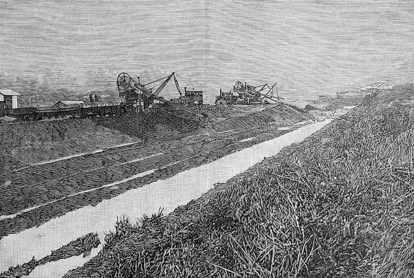 Excavator Photograph - Panama Canal Construction by Bildagentur-online/th Foto/science Photo Library