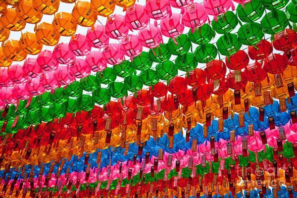 Photograph - Paper Lanterns by Ernest Manewal