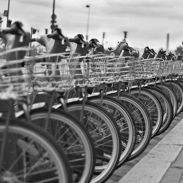 Blackandwhite Photograph - #paris #bikes by Georgia Fowler