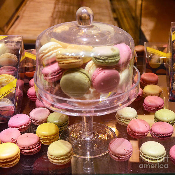 Wall Art - Photograph - Paris Macarons And Patisserie Bakery - Paris Macarons Desserts Food Photography by Kathy Fornal