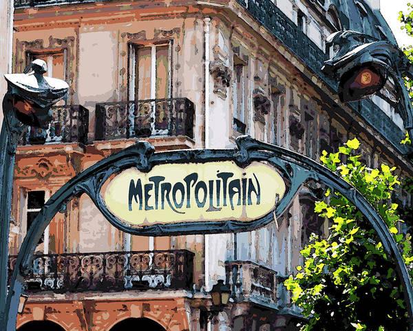 Photograph - Paris Metropolitain Sign by Toby McGuire