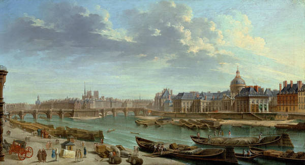 Wall Art - Painting - Paris Seine, 1763 by Granger