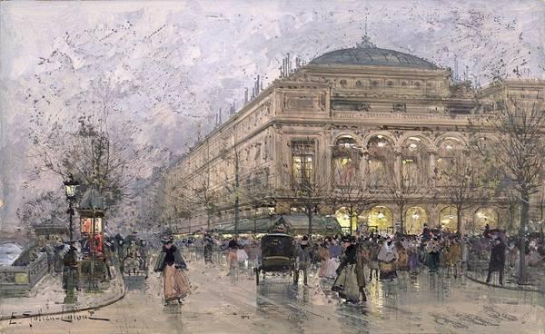 Avenue Painting - Parisian Street Scene by Eugene Galien-Laloue