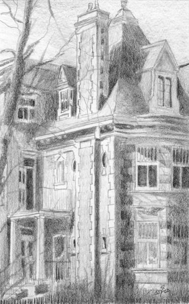 Drawing - Park Avenue Montreal Study by Duane Gordon