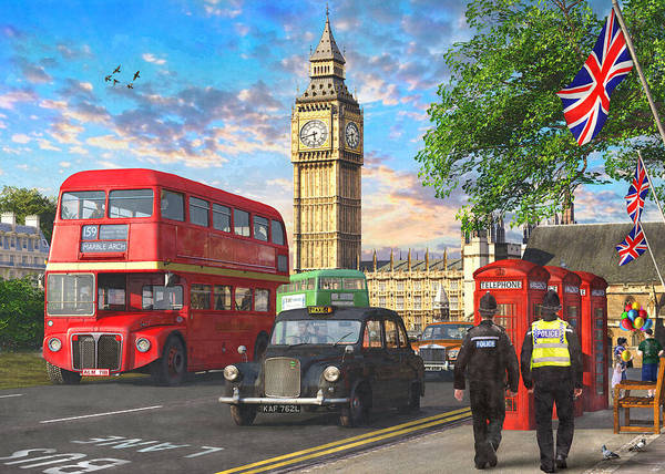 Wall Art - Painting - Parliament Square by MGL Meiklejohn Graphics Licensing