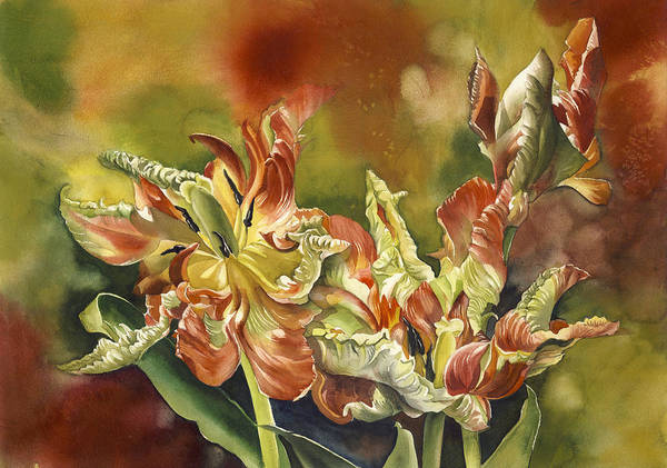 Painting - Parrot  Tulips by Alfred Ng