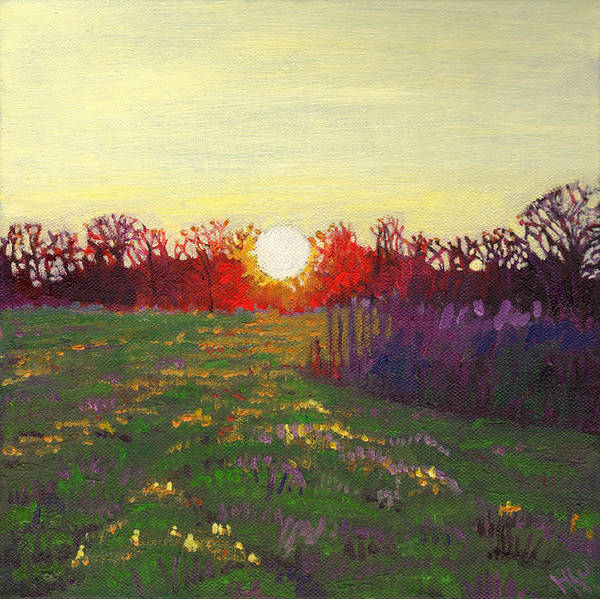 Sun Set Painting - Path Of Light by Helen White
