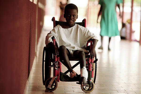 Developing Country Photograph - Patient In A Wheelchair by Mauro Fermariello/science Photo Library